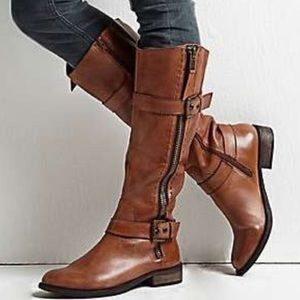 Steve Madden Sonnya Boot, Black Leather